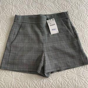 Zara Plaid Shorts Small